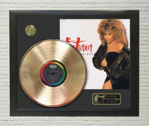 Tina Turner Break Every Rule Framed Legends Of Music Gold LP Record Display