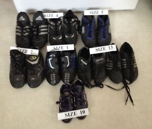 Kids Soccer Shoes Size 10, 13, 1, 2, 4, and 5