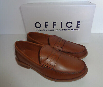 OFFICE Liho Mens Tan Leather Shoes New Formal Slip On Loafers RRP £55 Size 6-12
