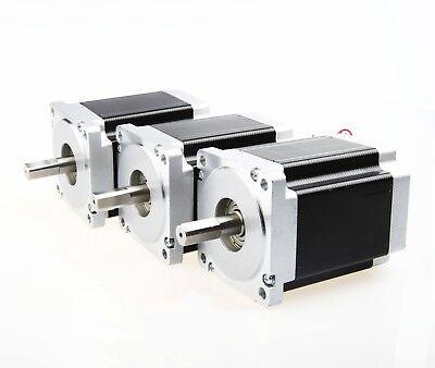 Free Ship3pcs Cnc Nema34 Stepper Motor 1232oz-in 8.7nm5.6a118mm4leads