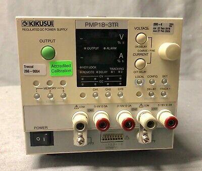 Kikusui Pmp18-3tr Triple Output Power Supply - Full Calibration