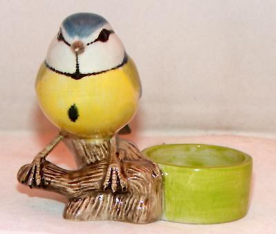 Quail Ceramics Bird Tealight Holder Blue Tit 914