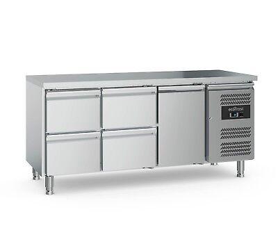 2-türig/4 Schublade (79505175 Kühltisch 2 Türig 4 Schubladen Edelstahl Barkühltisch Barkühler Theke)