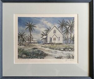 Watercolour Print Of Port Douglas Hand Signed by Artist