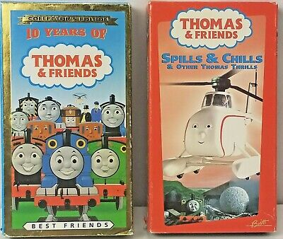 Thomas the Train VHS Lot of 2 Thomas & Friends Spills & Chills 10 Years