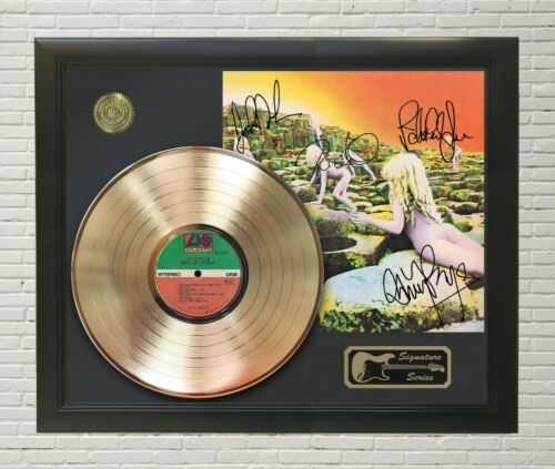 "Led Zeppelin Framed wood Reproduction Signature LP Record Display. ""M4"""