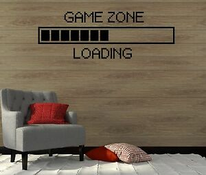 Wall decal game zone play room gamer video game boy art for Home decor zone