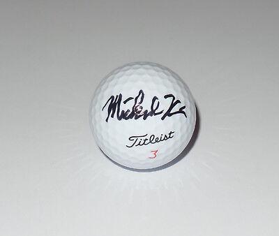 Michael Kim Signed Autod Titleist Golf Ball Pga Tour Cal Web Com