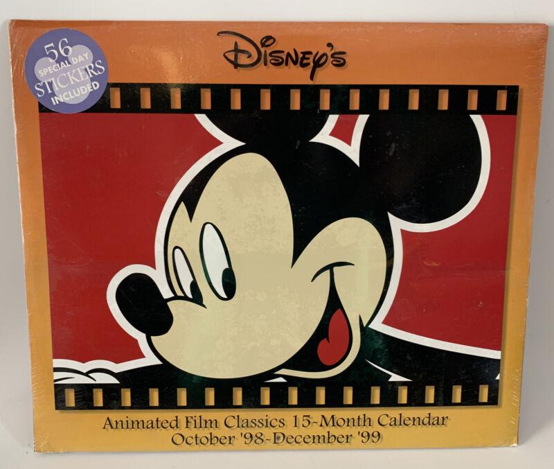 Vintage Sealed Disney Store Animated Film Classics 1998-1999 Wall Calendar Pixar