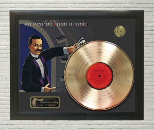 """Blue Oyster Cult Framed wood Legends Of Music LP Record Display. """"C3"""""""