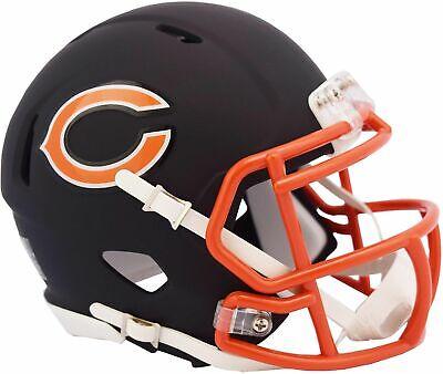 Riddell Chicago Bears Black Matte Alternate Speed Mini Football - Chicago Bears Helmet