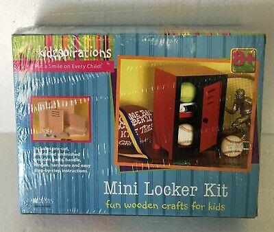 Mini Locker Kit Fun Wooden Crafts for Kids Kidzspirations Brand New Age 8+ Mini Lockers For Kids