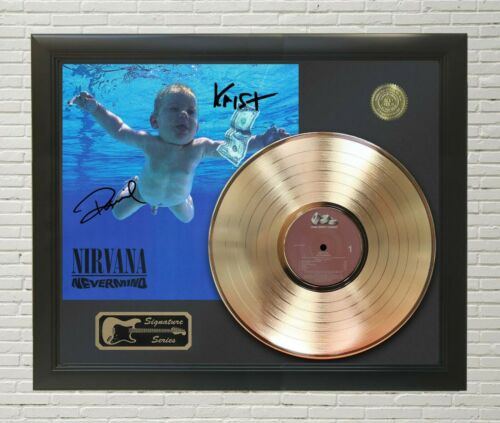 "Nirvana Framed LP Record Reproduction Signature Display  ""M4"""