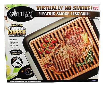 Gotham Steel Non-Stick Portable Smokeless Electric Grill - O