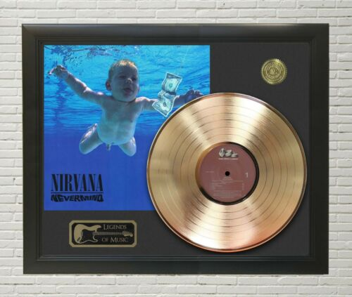"Nirvana Framed wood Legends Of Music LP Record Display. ""C3"""