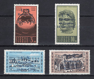 CYPRUS 1966 U.N. RESOLUTIONS FOR CYPRUS 18.12.1965 MNH