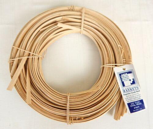 """Jadvick 3/8"""" Flat Oval Reed for Basketry Basket Making 1 lb Coil Natural #73078"""