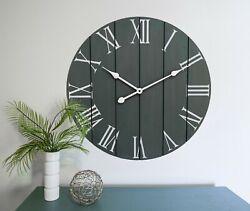 Large Decorative Wall Clock - Farmhouse Home Decor - Kitchen Clocks - Rustic