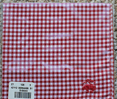 Brooks Brothers Red & White Gingham Check Pocket Square NEW