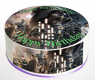 Cake Topper Birthday Star Wars personalised Rice paper,Icing fondant Sheets 829