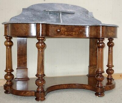 Victorian Marble-Top Burr Walnut Washstand, nationwide delivery