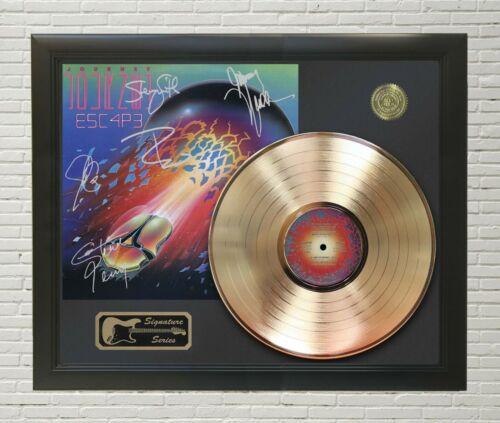 Journey Escape Framed wood Reproduction Signature LP Record Display.