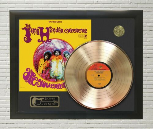 Jimi Hendrix Experienced Framed Legends Of Music Gold LP Record Display