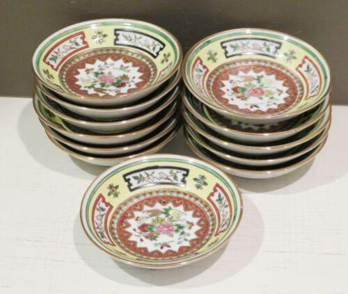Jingdezhen Chinese Famille Porcelain SET 12 Sauce Dipping Bowls