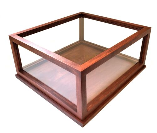 Hand-Crafted Real Wood and Glass Display Case for Bibles and Memorabilia