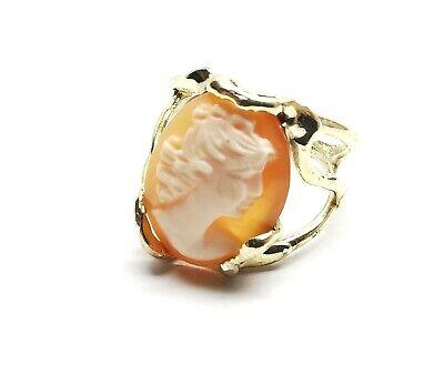 antico anello cammeo corneola di torre del greco in argento 925 oro vintage dama