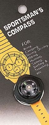 Camping Cub Boy Scout Hiking Watch Wrist Arm Hiking Compass Slides On Watchband