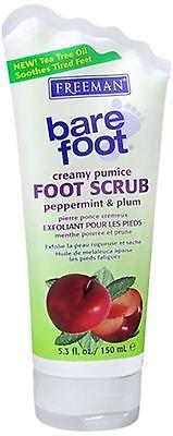 - Freeman Bare Foot Creamy Pumice Foot Scrub Peppermint - Plum 5.30 oz