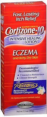 Cortizone 10 Intensive Healing Lotion Eczema Dry Skin 3 50 Oz