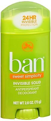 Ban Anti-Perspirant Deodorant Invisible Solid Sweet Surrender 2.60 oz 3PK
