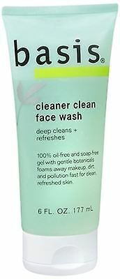 Basis Cleaner Clean Face Wash 6 Fluid Ounce