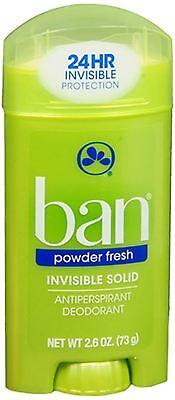 Ban Anti-Perspirant Deodorant Invisible Solid Powder Fresh 2.60 oz (Pack of 3)
