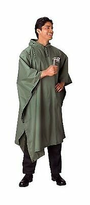 US Army Military Marines Scout Hiking Camping Olive Drab Green Rain Coat Poncho