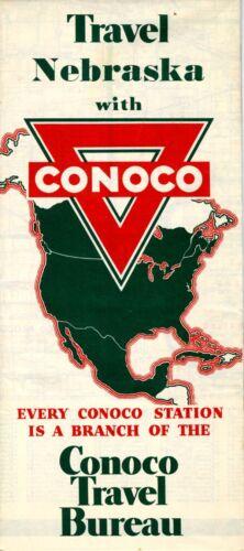 1940 Conoco Road Map: Nebraska NOS