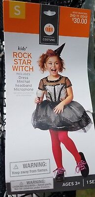 Rockstar Witch Child COSTUME Size Small 4-6x - Female Rock Star Costume