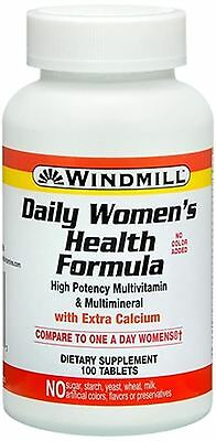 Windmill Daily Women's Health Formula Multivitamin Tablets 100 Tablets