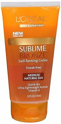 L'Oreal SUBLIME BRONZE Self-Tanning Gelee Medium-Natural 5 oz