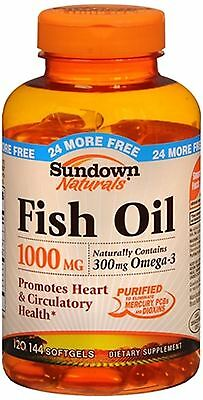 Sundown Naturals Fish Oil 1000 mg Softgels 120 Soft Gels
