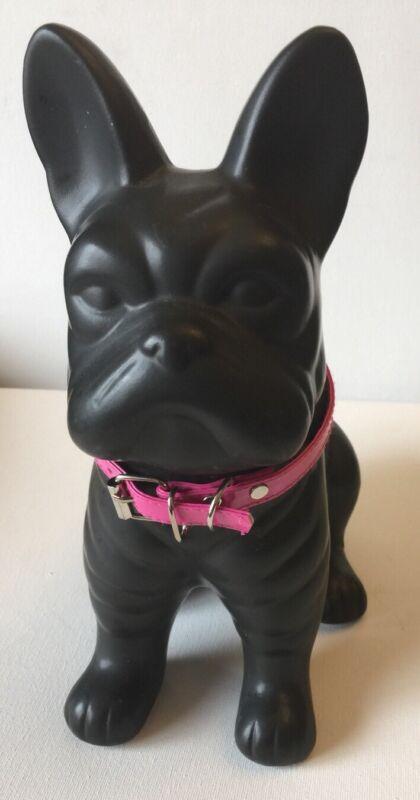 French Bulldog Bank With Pink Collar
