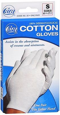 Cara 100% Dermatological Cotton Gloves Small 1 Pair ()