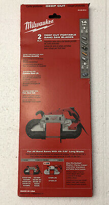Milwaukee 44-78 In. 14 Tpi Bi-metal Deep Cut Portable Band Saw Blade 2-pack