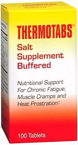 THERMOTABS Salt Supplement Buffered Tablets 100 Tablets