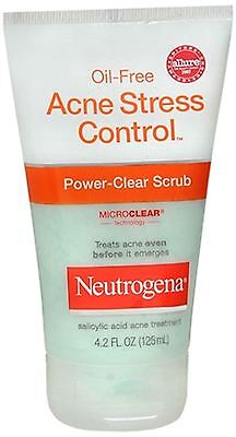 Neutrogena Oil-Free Acne Stress Control Power-Clear Scrub 4.20 oz (Pack of 9)