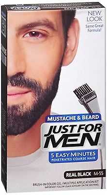 JUST FOR MEN Color Gel Mustache - Beard M-55 Real Black 1 Each
