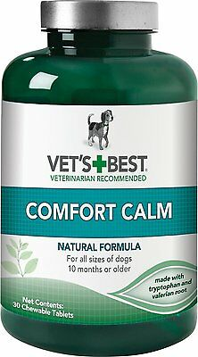 Vets Best Natural Calming Large Dog Supplements Pet Reduce Anxiety Tension Relax