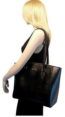 Designer Kate Spade Jeanne Black Large Tote Leather Laptop Shoulder Bag Purse